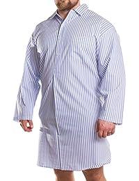 Big pour homme Kings Club à manches longues Chemise Longueur Genou 2x L 3x l 4x l 5x l 6x L 7x l 8x l
