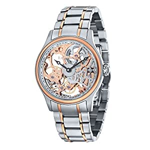 Thomas Earnshaw Bauer Mechanical Men's Mechanical Watch with Rose Gold Dial Analogue Display with Silver Stainless Steel Bracelet ES-8049-33