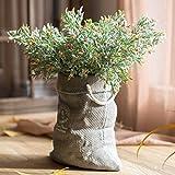 ZHUDJ Anlage Stil mit Blumenmustern Desktop Dekorierte Blumenarrangements, Tasche Blume Grau &Amp; Brief Doran Orange 7-Unterstützung
