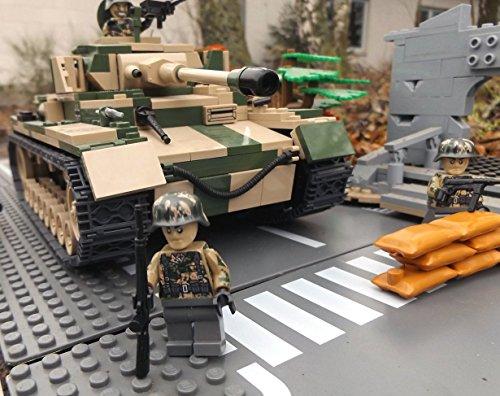 Modbrix 2508 – ☠ Bausteine Panzer IV Ausf. F1 Totenkopf Division inkl. Custom Elite Wehrmacht Soldaten aus Lego© Teilen ☠ - 2