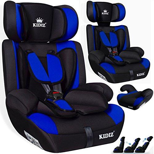 KIDIS® Autokindersitz Kinderautositz Sportsline Gruppe 1+2+3   9-36 kg Autositz Kindersitz   Stabil und Sicher   Farbe Blau