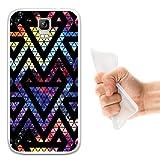 WoowCase Umi Rome Hülle, Handyhülle Silikon für [ Umi Rome ] Raum Galaxie Geometrische Dreiecke Handytasche Handy Cover Case Schutzhülle Flexible TPU - Transparent
