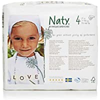 Naty by Nature Ökowindeln, Größe 4, 7-18 kg, 4er Pack (4 x 27 Windeln)