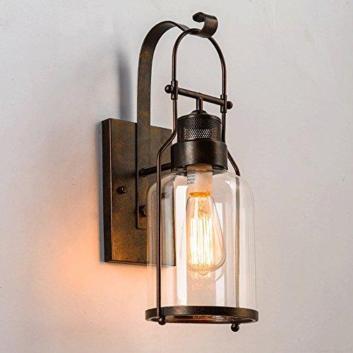 Vintage Wandleuchte, Frideko Retro-Stil Simplicity Rustikal kreative Glas Wandlampe für Loft Wohnzimmer Schlafzimmer Cafeteria Landhaus
