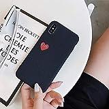 Coogel comme des Garcons Case for iPhone XS Max XR X 8 7 6 6s Plus 5 5s Se CDG Play Love Heart Shape Matte Rock Sand Texture Soft Cover