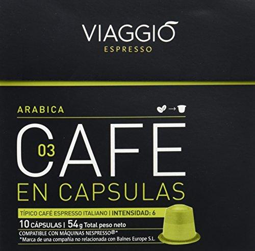 Viaggio Espresso Arabica Café - 10 cápsulas