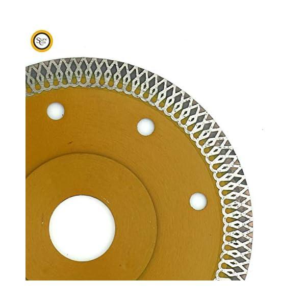 Stonecraft Disco de corte de diamante Turbo Cuchilla de diamante ultrafina de 115 mm, azulejo cerámico seco/húmedo