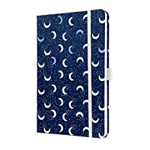 SIGEL JN321 Notebook Jolie, Approx. A5, Lined, hardcover, Design Dark Moon