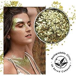Ecostardust Gold Digger biodegradabile glitter ✶ festival Bioglitter cosmetici viso corpo capelli unghie