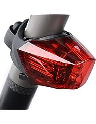 ONEU LED Fahrradlicht, USB Wiederaufladbare Fahrrad Rücklicht mit 3 Hellen Modi, 3 Super Helle LED Leuchtet Wasserdicht IPX4 Indikator Fahrradbeleuchtung mit Einer Patentierten Wölbung