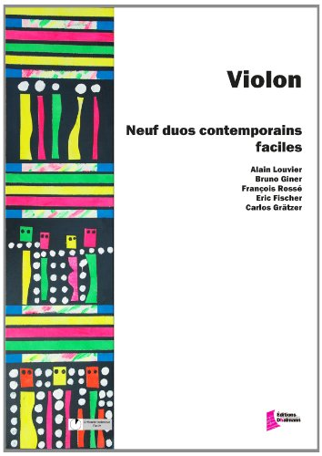 Violon : 9 duos contemporains faciles