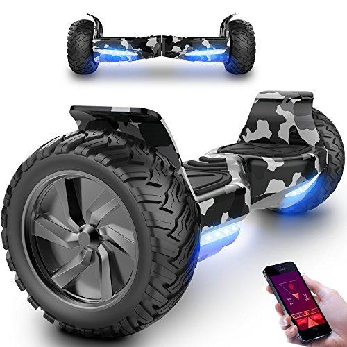 MARKBOARD Hover Scooter Board 8,5 Zoll Elektro Skateboard 350W*2 Motor - Gyropod Modell Bluetooth (HM2 Tarnfarbe)