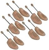 DELFA Holz Spiralfeder Schuhspanner 44/45 (Set von 5 Paar)