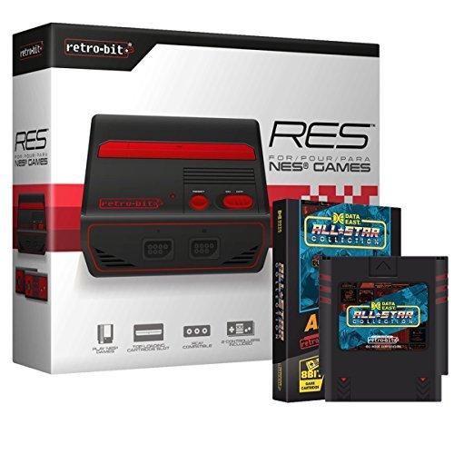 retro-bit 2Stück Res Edition [Standard Definition] Konsole System (2017) mit Daten East All Star Collection NES Multi-Cart Bundle für NES, Schwarz/Rot