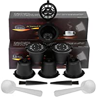 Lictin Pack of 3 Refillable Reusable Coffee Capsule for Dolce Gusto with 1Pc Plastic Spoon and 1 Cleaning Brush