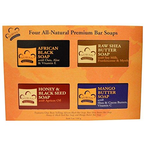 Nubian Heritage Bar Soap Gift Set - Premium - 4 Soaps - 1 Set by (Bar Soap Gift Set)