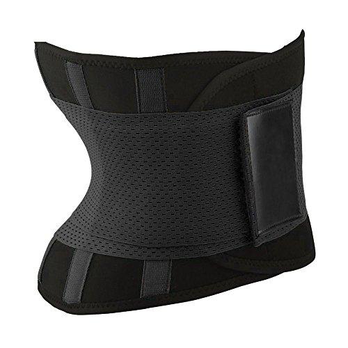 Abboard - Faja Reductora para Adelgazamiento de la Cintura, Unisex para Mujer, promueve la pérdida de Peso, Control de la Cintura, corsé Moldeador de Abdomen, Negro, Small