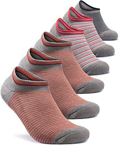 Tesla Herren 6er Pack Athletische No Show Socken Gepolsterte Komfort W MESH tm-mzs04/mzs05/mzs06/mzs07, damen unisex Herren, TM-MZS08-GRD (Champion No Show Herren Socken)