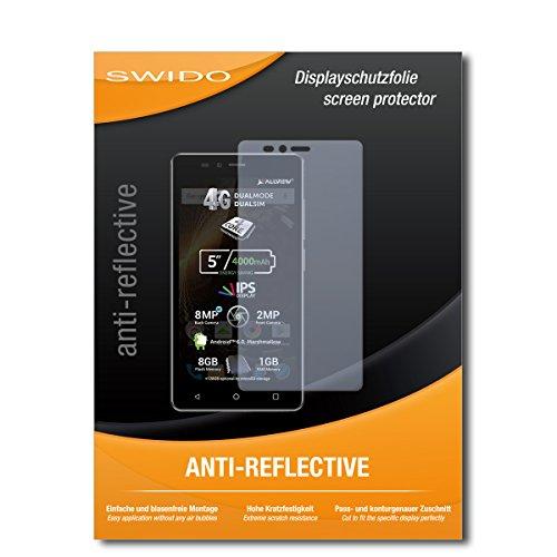 SWIDO Schutzfolie für Allview P6 Energy Lite [2 Stück] Anti-Reflex MATT Entspiegelnd, Hoher Härtegrad, Schutz vor Kratzer/Displayschutz, Displayschutzfolie, Panzerglas-Folie