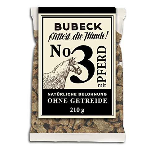 Bubeck's Nr. 3 mit Pferd gebacken 210g, getreidefreie Leckerlis für Hunde