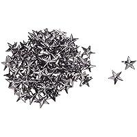 SODIAL(R) 100X Apliques Remaches Gris Oscuro 15mm Estrella Tachuelas Bolsa/Calzado/