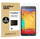 iVoler Kompatibel für Panzerglas Schutzfolie Samsung Galaxy Note 3 [9H Härte] [Anti- Kratzer] [Bläschenfrei] [2.5D R&e Kante], [2 Stücke]