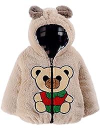 Vêtements Enfant Bébé Garçon fille, Koly Hoodies Coat Thick Tops Automne avec motif d'ours Vêtements d'hiver Vêtements d'extérieur