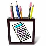 3dRose PH Tapete Papiertapete 1, wie ich Rolle Lockenwickler Kosmetikerin Design-Tile Stifthalter, 12,7cm