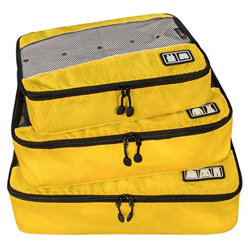 Bagsmart Aufbewahrungstasche für Koffer/Tasche Reise-Set 3Stück schwarz., gelb (gelb) - Eco020004002-FFR