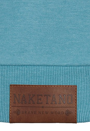 Naketano Male Zipped Jacket Schwarzkopf IV Fresh Blue Melange