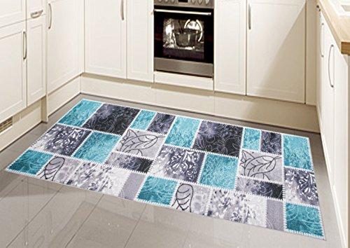 Teppich Modern, Flachgewebe, Gel-Läufer, Küchenteppich