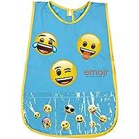 PERLETTI Delantal Infantil Emoji - Bata Escolar Impermeable con Bolsillo Delantero - Ideal para Mantener la