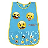 Emoji Kinder Kittel - PVC Schürze Wasserdicht mit Emoticons Frontalfach - Ideal als Schutz für Kinderkleidung - 3 bis 5 Jahre - Perletti - Türkis