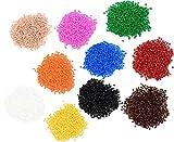 Unbekannt Mini-Bügelperlen-Set, je 1000 Perlen in 10 Farben - Kindergarten Krippe Basteln Perlen Bastelmaterial Kinder Kinderbastelset Perlenset basteln bügeln