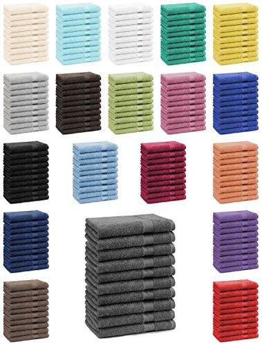 Betz Lot de 10 serviettes débarbouillettes lavettes taille 30x30 cm en 100% coton Premium color blanc