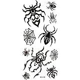 Watertight black tattoo stickers spider web spider