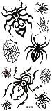 Stagna tatuaggio nero adesivi ragnatela ragno