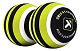 Trigger Point Unisex MB2 Double Massage Ball Roller für Rücken und Nacken Relief, Lime, One Size