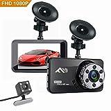 Flybiz Dashcam Mini Telecamera per Auto Dash Cam Full HD 1080P, Registrazione Continua, con 3.0' LCD, 170 Gradi, G-Sensor, WDR, Rilevazione di Movimento, Registrazione in Loop