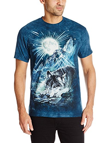 chsen Wolf Night Symphony Tier T Shirt, Blau, M ()