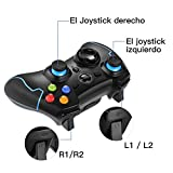 EasySMX Mando para PC, [Regalos] Mando Inalámbrico PS3 Gamepad Wireless Compatible con Windows XP y Vista, Windows 7/8/8.1/10 y 10, PS3, Android y Operación Rango hasta 10M (Azul)