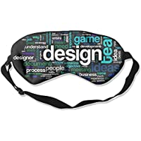 Eye Mask Eyeshade Words Design Sleeping Mask Blindfold Eyepatch Adjustable Head Strap preisvergleich bei billige-tabletten.eu