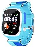 VIDIMENSIO GPS Telefon Uhr 'Kleiner Affe - blau (Wifi)', OHNE Abhörfunktion, Smartwatch für Kinder, SOS + Telefonfunktion + GPS+WIFI+LBS Ortung per App, Bedienungsanleitung + Support + App auf deutsch