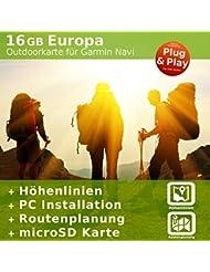 Topo Karte Spanien, Mallorca, Ibiza + Europa kompatibel zu Garmin Edge GPSmap Montana Etrex Dakota Oregon Colorado Astro