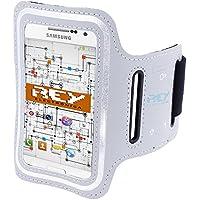 """Brazalete Deportivo Reflectante XL para SmartPhones desde 5,5"""" hasta 6,3"""", en Color Gris, Electrónica Rey®"""