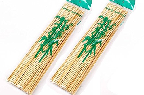 SK-tm Bamboo Skewers / Kabab / Burger / Barbecue Sticks 10 inch (Pack of 100)