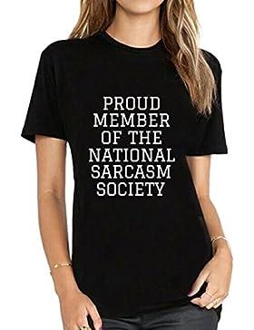 BLACKMYTH Mujer Casual Manga Corta T-shirt Camisetas Para Estampar Graphic Tees
