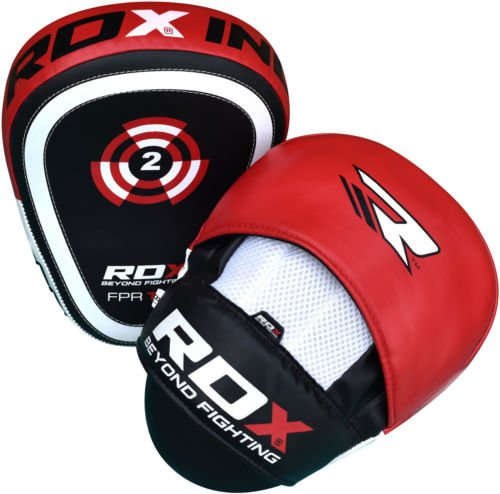 Preisvergleich Produktbild RDX Curved Focus Pads Mitts,Hook and Jab,Punch Bag Kick Boxing Muay Thai MMA UFC