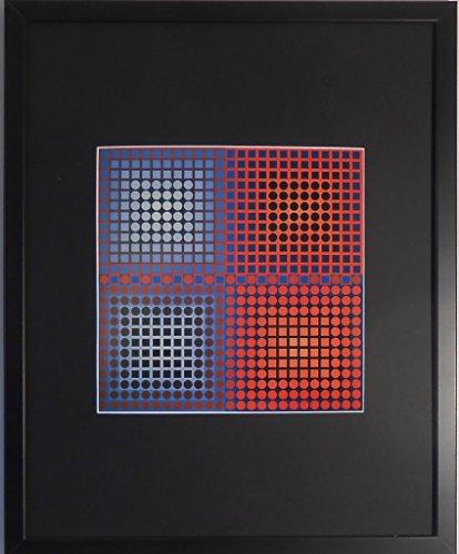 Gerahmter und montiert z.B. 1–2Print von Victor Vasarely–50,8x 40,6cm–Teil der...
