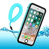 iPhone 8 Plus Hülle Wasserfeste, IP68 Zertifiziert Wasserdicht Ultra Dünn Outdoor Handy Hülle Stoßfest Staubdicht Staubdicht Kratzfestes Gehäuse Full Body Robuste Schutzhülle mit Displayschutz Unterwasser Tasche Case für iPhone 7 Plus iPhone 8 Plus (5,5 Zoll)(Blue for iPhone 8 Plus / 7 Plus)